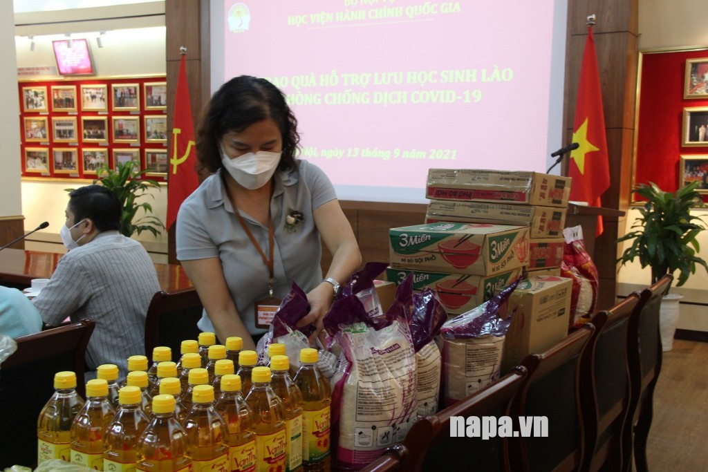 Gifts prepared for Lao students studying at NAPA