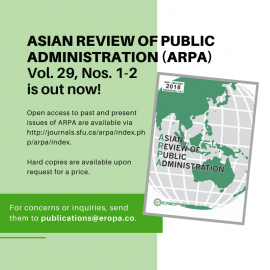 The Asian Review of Public Administration (ARPA)