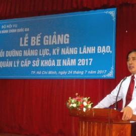 Bế giảng Lớp bồi dưỡng cấp Sở khóa II 2017 _ 2