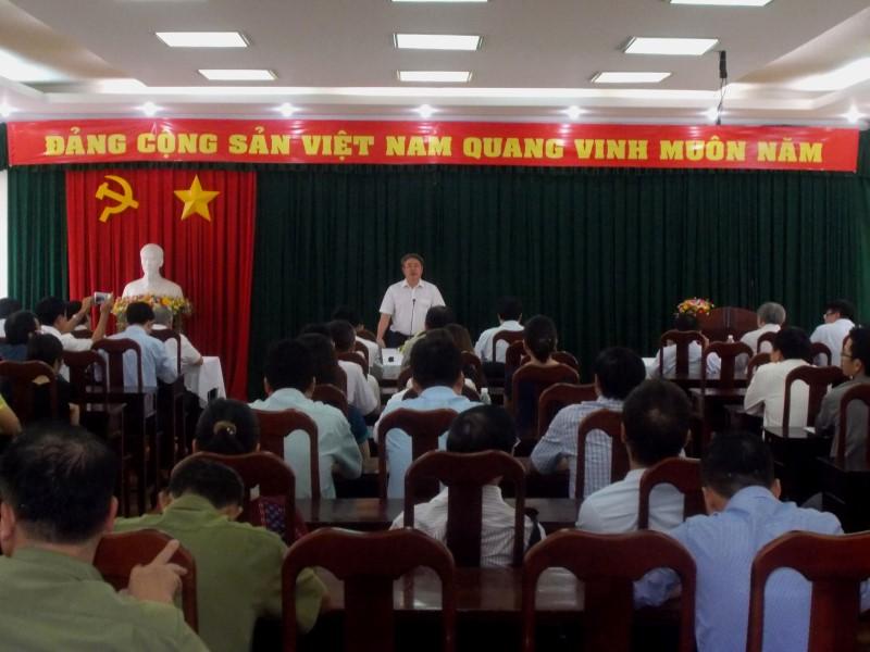 Giám đốc HVHCQG gặp CB,NV,NLĐ cơ sở TPHCM _ 2