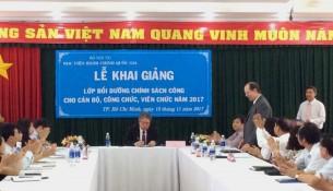 Khai giảng lớp bồi dưỡng lop Chinh sach Cong 2017 _ 4