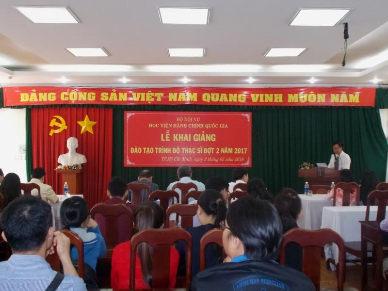 Khai giảng Đào tạo trình độ Thạc sỹ đợt II năm 2017 _ 1