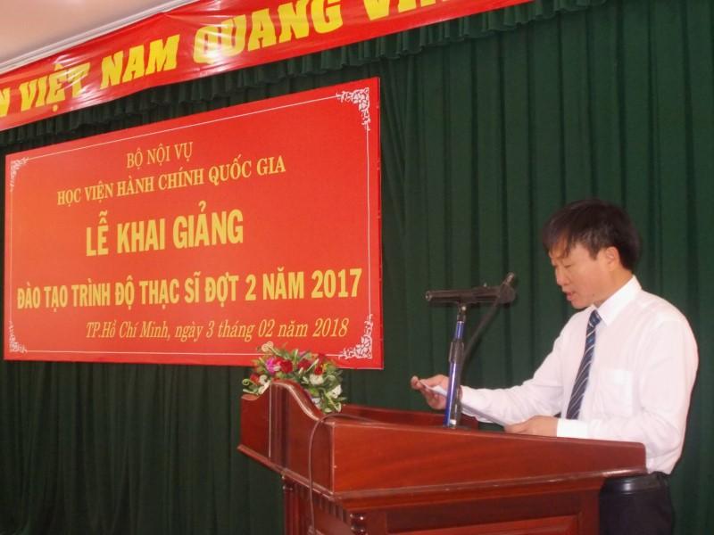 Khai giảng Đào tạo trình độ Thạc sỹ đợt II năm 2017 _ 4