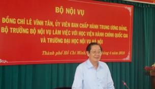 Đồng chí Lê Vĩnh Tân, Ủy viên Ban Chấp hành Trung ương Đảng, Bộ trưởng Bộ Nội vụ làm việc với Học viện Hành chính Quốc gia và Trường Đại học Nội vụ _ 2