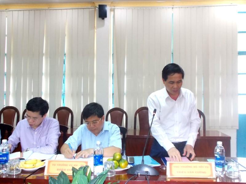Đồng chí Lê Vĩnh Tân, Ủy viên Ban Chấp hành Trung ương Đảng, Bộ trưởng Bộ Nội vụ làm việc với Học viện Hành chính Quốc gia và Trường Đại học Nội vụ _ 3