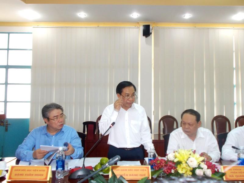 Đồng chí Lê Vĩnh Tân, Ủy viên Ban Chấp hành Trung ương Đảng, Bộ trưởng Bộ Nội vụ làm việc với Học viện Hành chính Quốc gia và Trường Đại học Nội vụ _ 6
