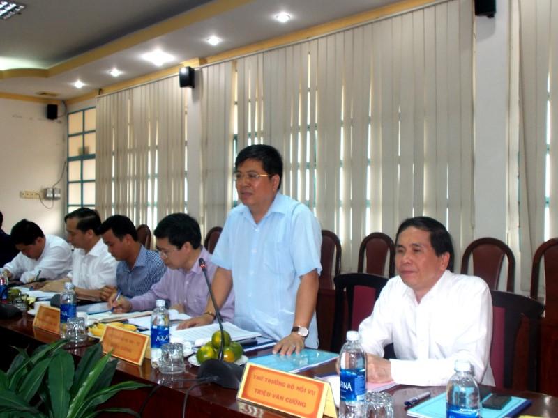 Đồng chí Lê Vĩnh Tân, Ủy viên Ban Chấp hành Trung ương Đảng, Bộ trưởng Bộ Nội vụ làm việc với Học viện Hành chính Quốc gia và Trường Đại học Nội vụ _ 7