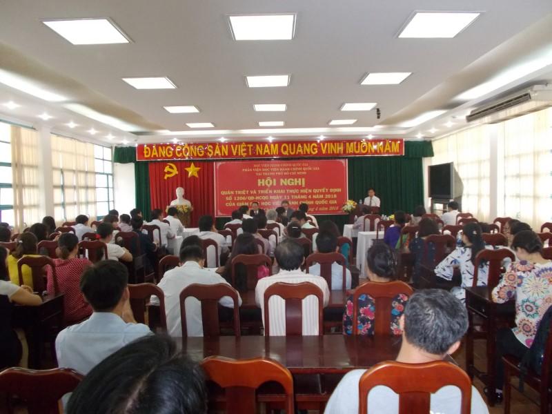 Hội nghị thực hiện Quyết định số 1206 về Phân viện _ 1