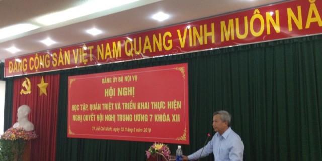 Đảng ủy Bộ Nội vụ tổ chức Hội nghị học tập, quán triệt Nghị quyết _ 4