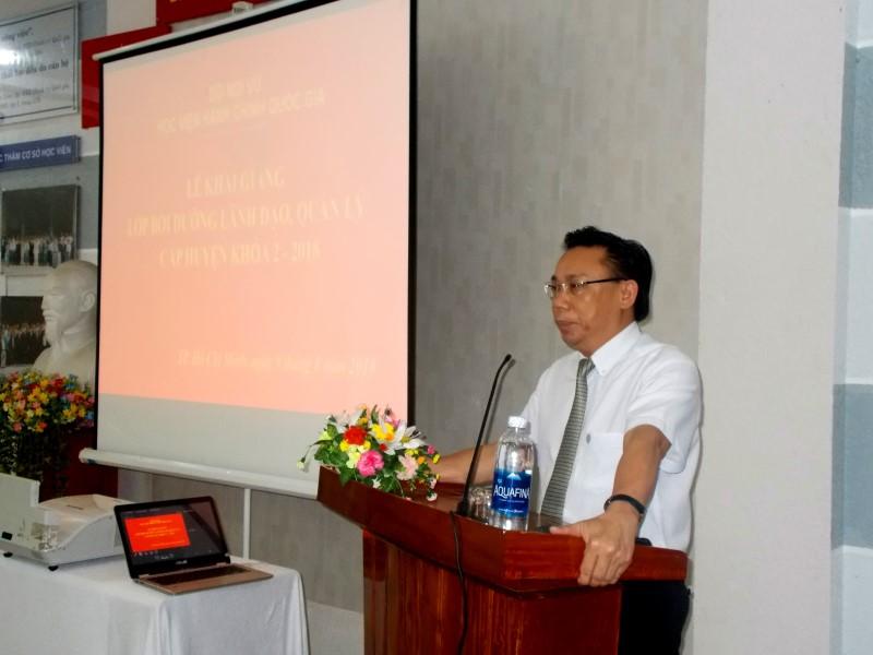 khai giảng lớp bồi dưỡng lãnh đạo, quản lý cấp huyện khóa II _ 3