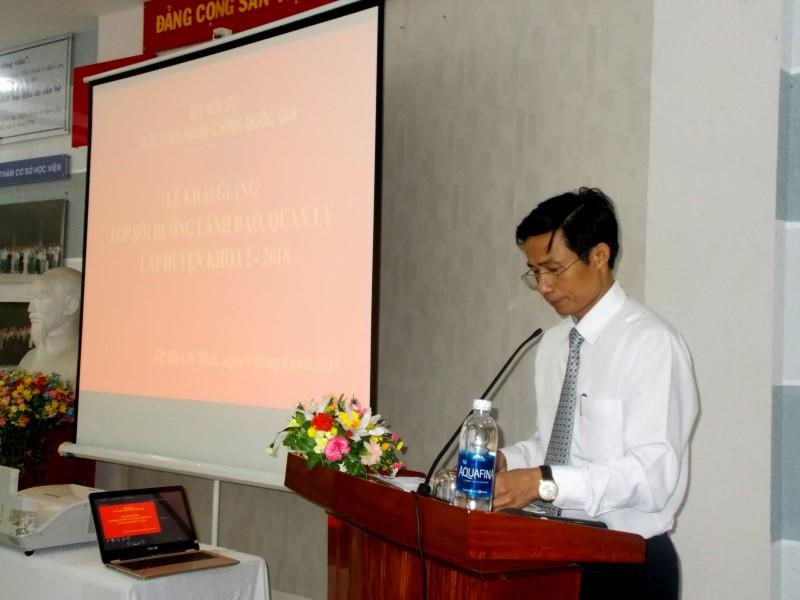 khai giảng lớp bồi dưỡng lãnh đạo, quản lý cấp huyện khóa II _ 4