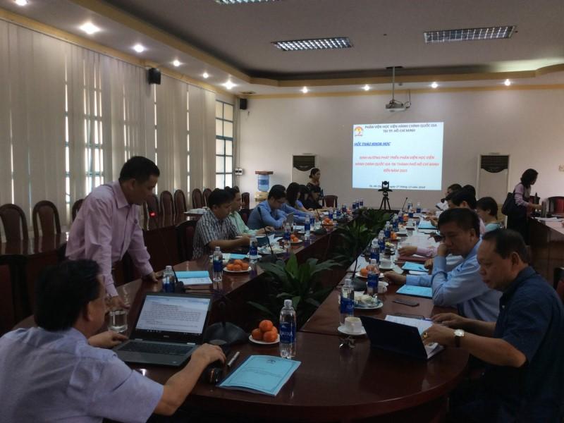 Hội thảo khoa học Định hướng phát triển Phân viện HVHCQG  _ 2