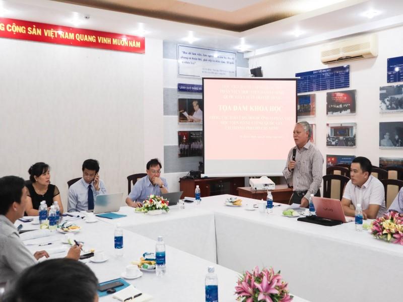 Tổ chức các Tọa đàm khoa học về nâng cao chất lượng đề tài NCKH và công tác ĐTBD _ 12