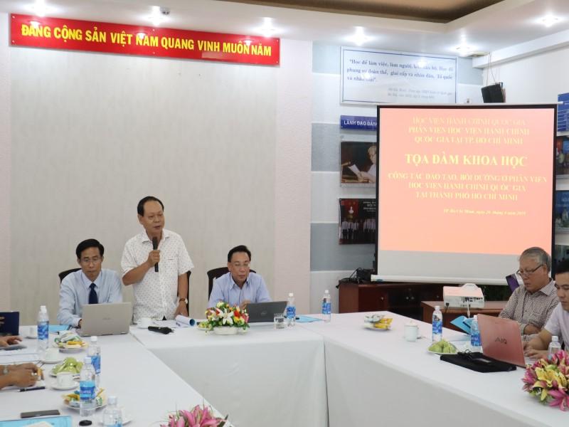 Tổ chức các Tọa đàm khoa học về nâng cao chất lượng đề tài NCKH và công tác ĐTBD _ 3