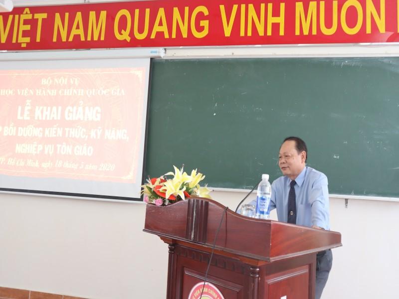 Khai giảng Lớp bồi dưỡng kiến thức, kỹ năng, nghiệp vụ tôn giáo _ 3