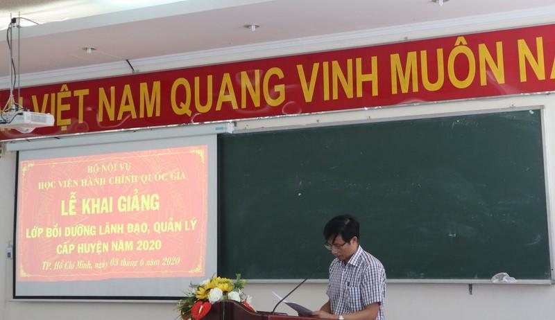 Khai giảng Lớp bồi dưỡng lãnh đạo, quản lý cấp Huyện _ 3
