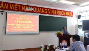 Khai giảng Lớp bồi dưỡng lãnh đạo, quản lý cấp Huyện _ 4