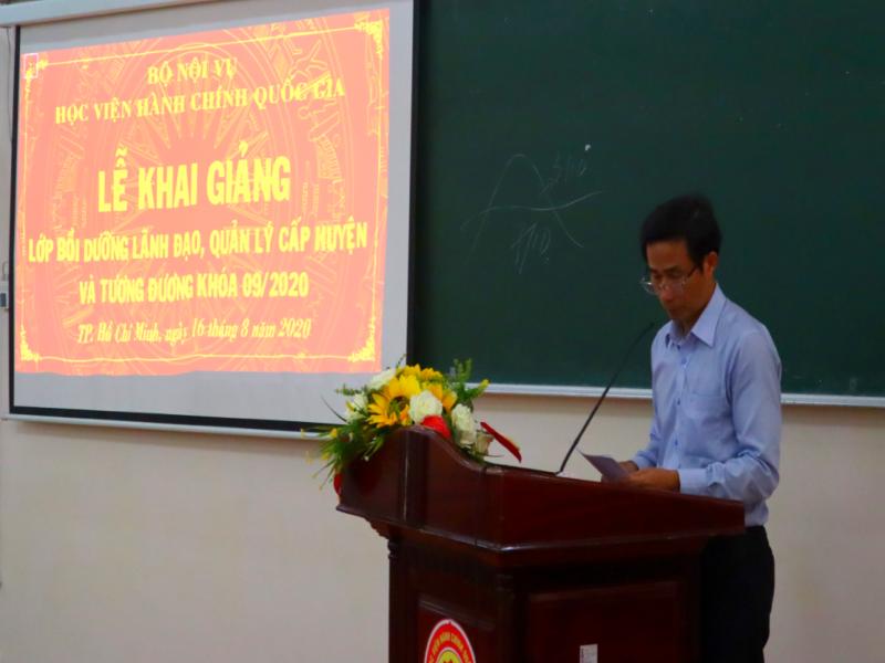 Khai giảng Lớp bồi dưỡng lãnh đạo, quản lý cấp Huyện và tương đương khóa 9 2020 - 3
