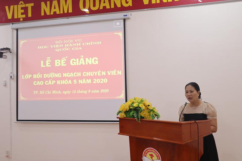 Bế giảng Lớp Bồi dưỡng ngạch chuyên viên cao cấp khóa 5 năm 2020 _ 2