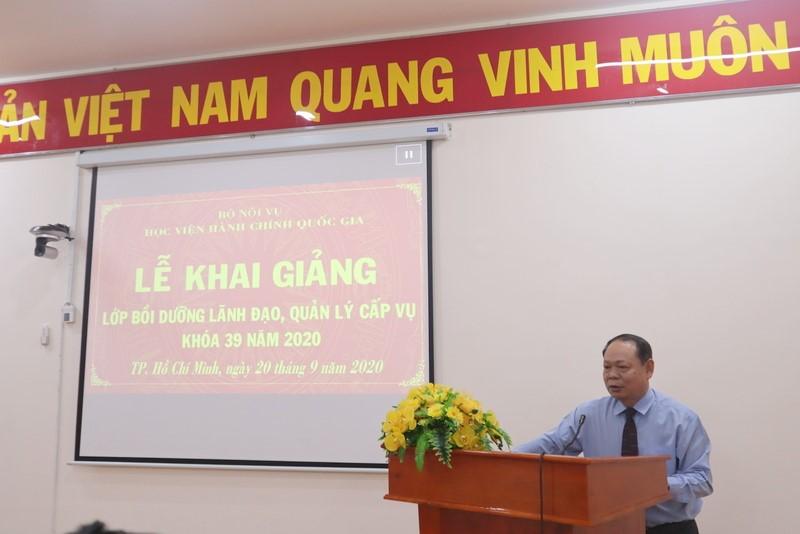 Khai giảng Lớp Bồi dưỡng lãnh đạo, quản lý cấp vụ và tương đương 39 2020 _3