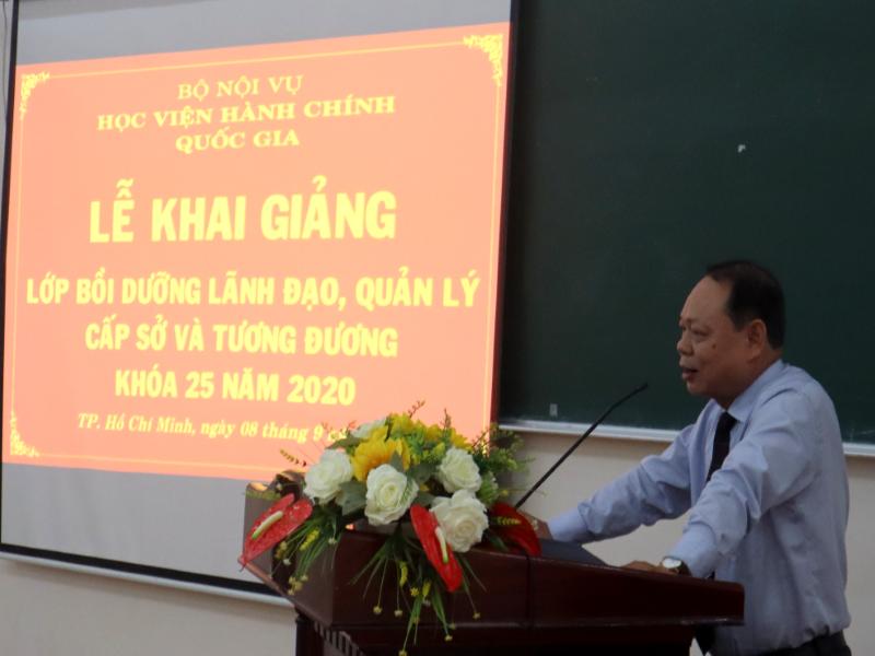 Khai giảng Lớp bồi dưỡng lãnh đạo, quản lý cấp Sở và tương tương khóa 25 _ 3