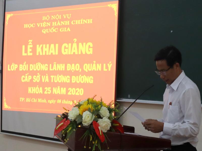 Khai giảng Lớp bồi dưỡng lãnh đạo, quản lý cấp Sở và tương tương khóa 25 _ 4