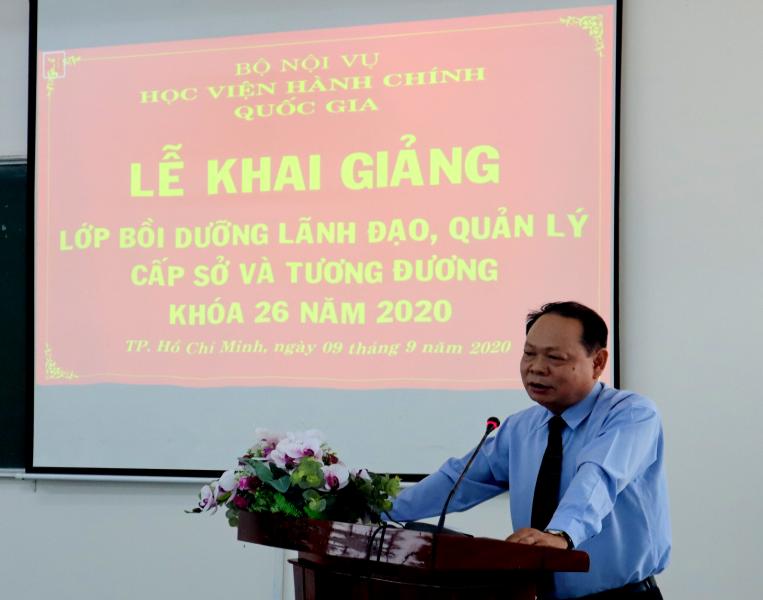 Khai giảng Lớp bồi dưỡng lãnh đạo, quản lý cấp Sở và tương tương khóa 26 _ 1