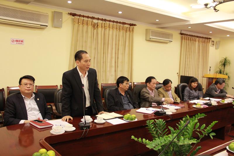 PGS.TS. Nguyễn Bá Chiến cảm ơn sự quan tâm của Đảng ủy, Ban Giám đốc Học viện