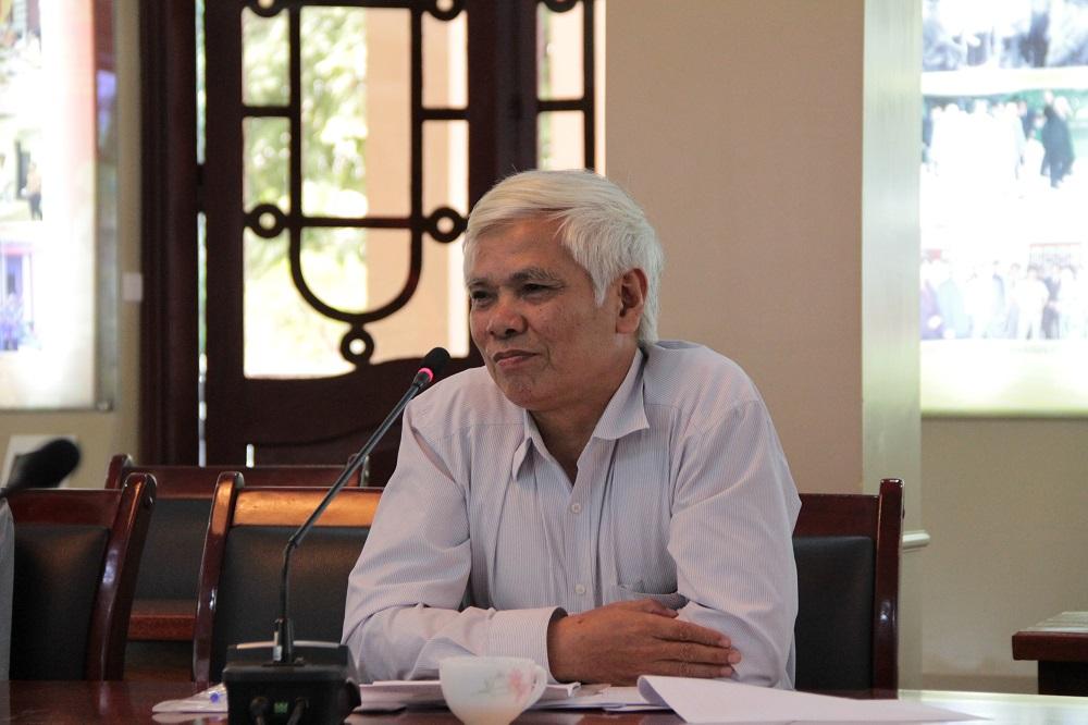 GS.TSKH. Phạm Hoàng Hải – Viện Địa lý, Viện Hàn lâm Khoa học và Công nghệ Việt Nam trao đổi tại Hội thảo
