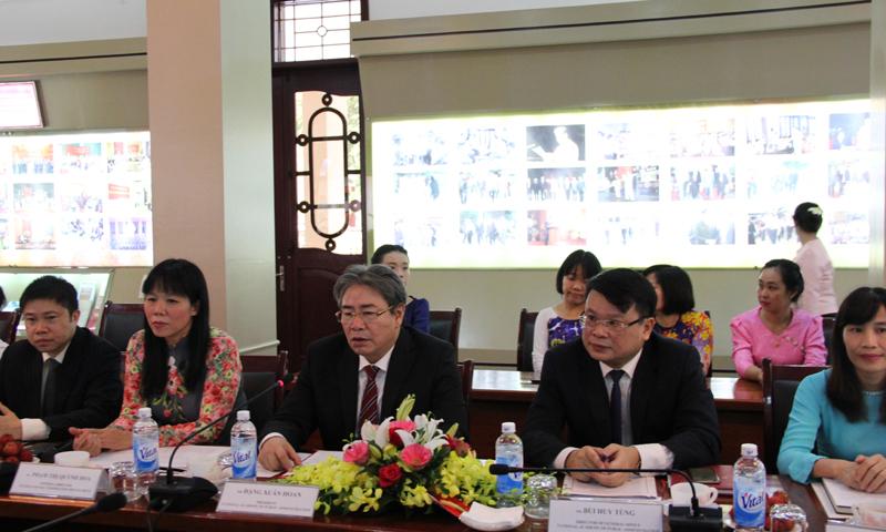 TS. Đặng Xuân Hoan, Giám đốc Học viện phát biểu chào mừng tại buổi Lễ