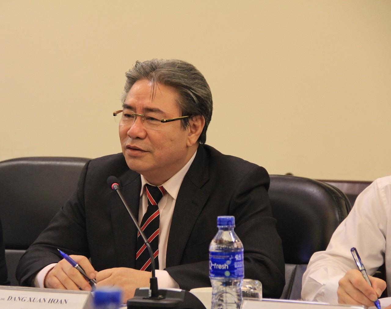 TS. Đặng Xuân Hoan, Giám đốc Học viện phát biểu chào mừng đoàn