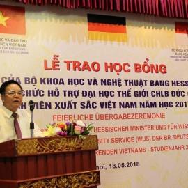 TS. Bùi Công Thọ – Trưởng đại diện Văn phòng Hessen tại Việt Nam phát biểu tại buổi Lễ