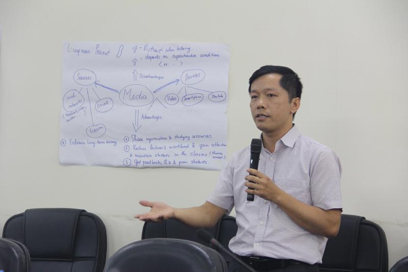 Học viên trình bày kết quả thảo luận