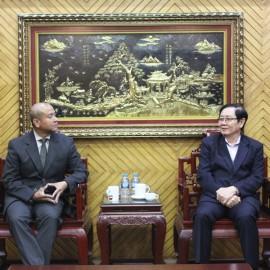 Bộ trưởng Lê Vĩnh Tân tiếp xã giao ông Weiming Tan