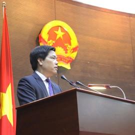 Vụ trưởng Vụ Cải cách hành chính, Bộ Nội vụ Phạm Minh Hùng phát biểu khai mạc Hội thảo