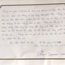Lời cảm ơn của lưu học sinh Lào gửi tới lãnh đạo và viên chức Học viện
