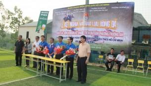 Lễ kết nghĩa và giao lưu bóng đá giữa chi đoàn Cơ sở Học viện  và các đơn vị Đoàn trên địa bàn phường Trường An