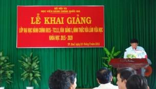 PGS. TS. Thái Thanh Hà – Phó trưởng Ban Đào tạo Học viện Hành chính Quốc gia đã phát biểu khai giảng lớp học