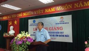 Đồng chí Trương Văn Nam - Giám đốc Bảo hiểm xã hội tỉnh Quảng Ngãi phát biểu