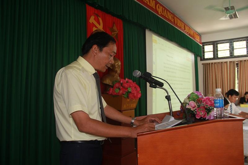 Đồng chí Đặng Văn Minh - Chủ tịch Công đoàn bộ phận trình bày Báo cáo tổng kết hoạt động công đoàn nhiệm kỳ 2011-2017 và phương hướng, nhiệm vụ nhiệm kỳ 2017-2022