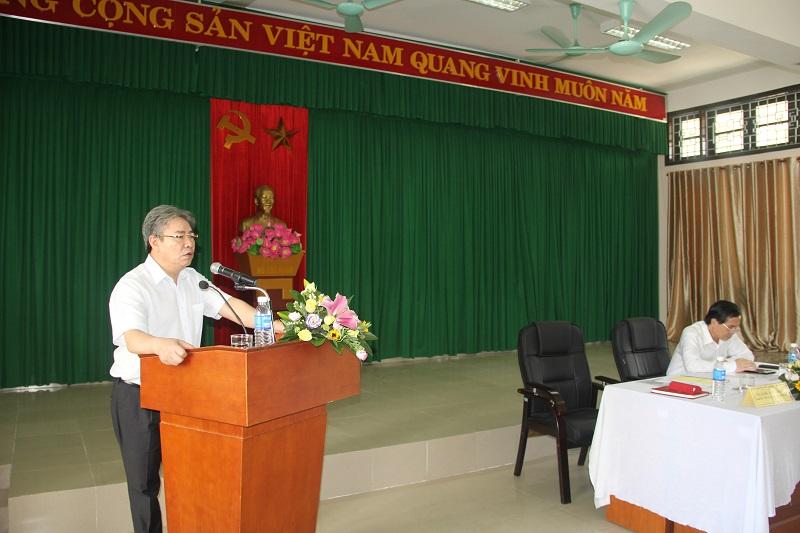 TS. Đặng Xuân Hoan - Giám đốc Học viện phát biểu tại buổi làm việc