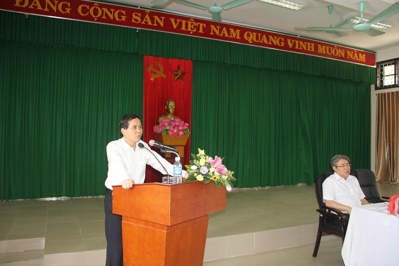 NGƯT, PGS.TS. Triệu Văn Cường - Thứ trưởng Bộ Nội vụ phát biểu chỉ đạo và chúc mừng TS. Đặng Xuân Hoan