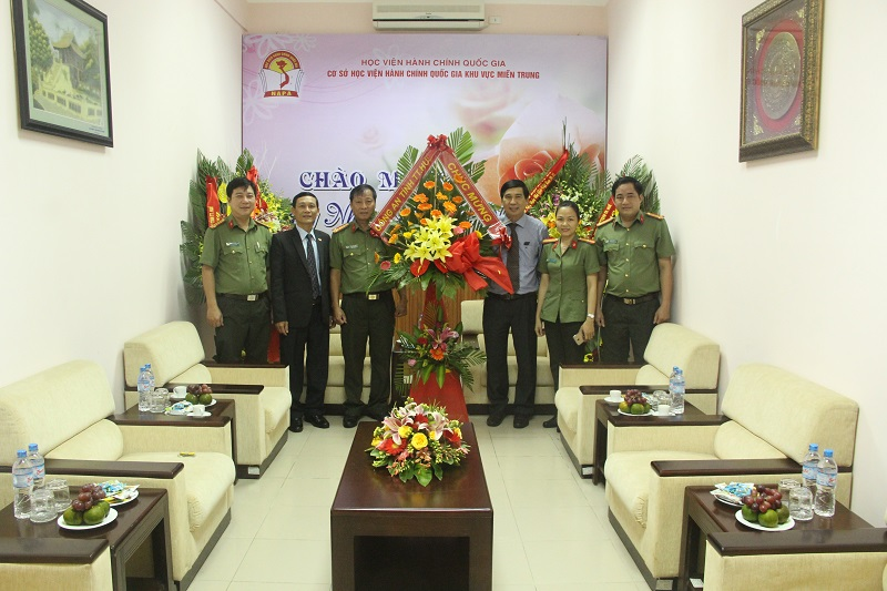 Lãnh đạo Công an tỉnh Thừa Thiên Huế đến thăm Cơ sở Học viện