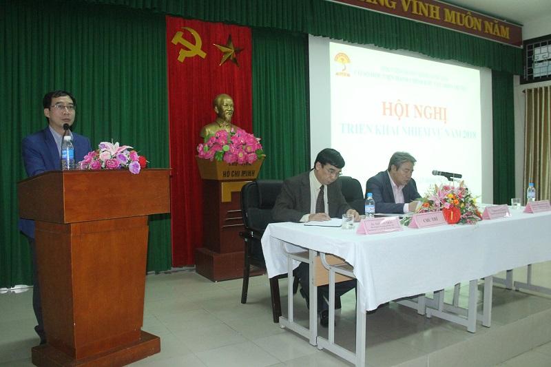 PGS.TS. Lương Thanh Cường - Phó Giám đốc Học viện Hành chính Quốc gia, Phụ trách Cơ sở Học viện phát biểu chỉ đạo Hội nghị