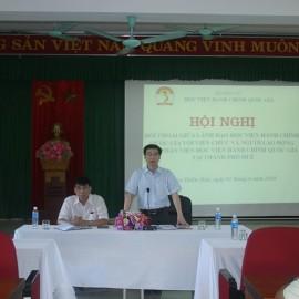 PGS.TS.Lương Thanh Cường – Phó Giám đốc Học viện Hành chính Quốc gia – Phụ Phân viện Huế phát biểu chỉ đạo tại Hội nghị