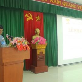 TS. Ngô Văn Trân – Phó Giám đốc thường trực Phân viện Huế phát biểu khai giảng khóa học