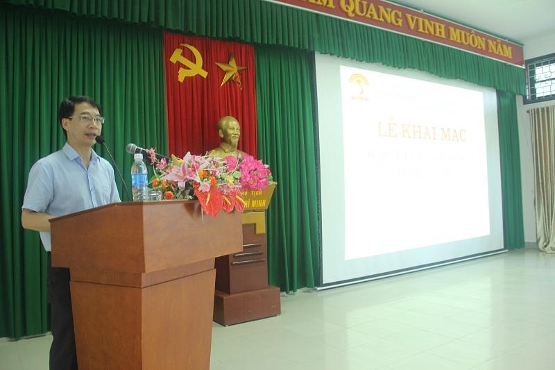 PGS.TS. Lương Thanh Cường, Phó Giám đốc Học viện, Phụ trách Phân viện Huế phát biểu tại Lễ khai mạc bảo vệ luận văn