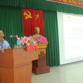 ThS. Lê Văn Lộc - Phó trưởng phòng Quản lý Đào tạo, bồi dưỡng, Phó ban thư ký công bố các Quyết định thành lập các Ban của Hội đồng tuyển sinh