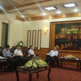 Đoàn công tác của Học viện Hành chính Quốc gia làm việc với UBND tỉnh Thừa Thiên Huế