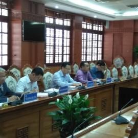 Ủy ban nhân tỉnh Quảng Nam làm việc cùng với đoàn Học viện Hành chính Quốc gia